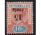 SG18a. 1893 15c on 16c 'Surcharge Inverted'. A beautiful...