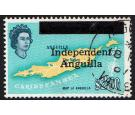 SG15. 1967 $2.50 Map of Anguilla. Superb fine used...