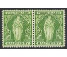 SG43b. 1899 1/2d Yellow-green 'HALFPENNY' Error. Mint pair...