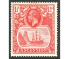 SG12b. 1924 1 1/2d Rose-red 'Torn Flag'. Superb mint...