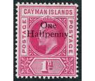 SG17. 1907 1/2d on 1d Carmine. Superb fresh mint...
