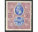 SG129. 1912 £2 Blue and dull purple. Exceptional mint...