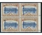 SG54. 1927 10/- Blue and bistre-brown. U/M marginal block...