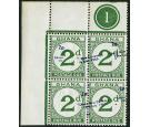 SG D20 Variety. 1965 2p on 2d Green. 'Surcharge Treble. Two Albi