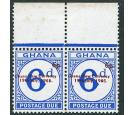SG D22b. 1965 6p on 6d Bright ultramarine. 'Purple-brown Surchar
