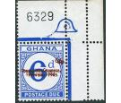 SG D22ba. 1965 6p on 6d Bight ultramarine. 'Surcharge Double'. U