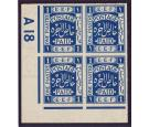 SG1. 1918 1p. Indigo. Extremely fine mint Control block...