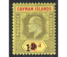 1908. Revenue Stamp. 1d on 4d Black and red/yellow. Superb mint.