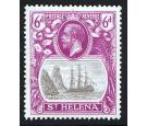 SG104b. 1922 6d Grey and bright purple. 'Torn flag'. Brilliant f