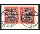 SG H6. 1914 30pf Black and orange/buff. Superb used pair on piec