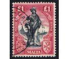 SG139. 1922 £1 Black and carmine-red. Superb fine used...