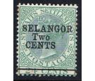 SG47. 1891 2c on 24c Green. Very fine fresh mint...