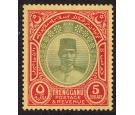 SG25. 1921 $5 Green and red/pale yellow. Choice superb fresh min