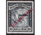 SG105. 1922 10/- Blue-black. Superb fresh well centred mint...