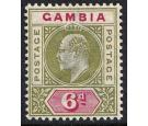 SG51a. 1902 6d Pale sage-green and carmine. 'Dented Frame'. Supe