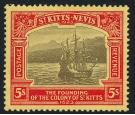 SG59. 1923 5/- Black and red/pale yellow. Superb fresh mint...
