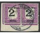 SG D3a. 1923 2d Black and violet. 'Wes' for West'. Superb used c