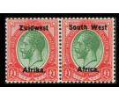 SG27. 1923 £1 Green and red. Superb fresh mint pair...