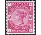 SG180. 1883 5/- Rose. Superb fresh well centred mint...