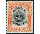 SG121b. 1902 8c Black and vermilion. Line through 'B'. Superb fr