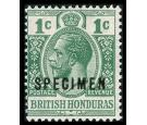 SG122s. 1921 1c Green. Brilliant U/M 'SPECIMEN'...