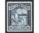 SG35. 1899 10/- Blue-black. Beautifully centred fresh mint...