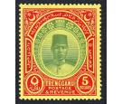 SG44. 1938 $5 Green and red/yellow. Beautiful fresh mint...