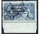 SG21. 1922 10/- Dull grey-blue. Very attractive used example...