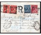 SG65. 1895 Registered envelope to Twickenham, London...