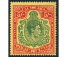 SG141a. 1944 5/- Green and red/pale yellow. Superb U/M mint...