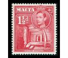 SG220a. 1938 1 1/2d Scarlet. 'Broken Cross'. Superb fresh U/M mi
