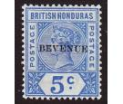 SG66a. 1899 5c Ultramarine. 'BEVENUE' Error. Superb fresh mint..