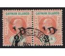 SG18. 1907 1/2d on 5/- Salmon and green. Superb used pair...