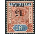 SG18a. 1893 15c on 16c 'Surcharge Inverted'. Brilliant fresh min