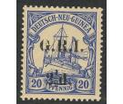 SG6. 1915 2 1/2d on 20pf Ultramarine. U/M mint...