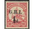 SG63. 1915 1d on 2d on 10pf Carmine. Superb mint...