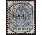 SG4. 1900 2 1/2d Blue and green. Superb fine well centred used..