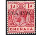 SG109a. 1916 1d Red. 'Overprint Inverted'. Brilliant fresh mint.