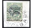 "SG17a. 1891 2c on 24c Green. ""CENST"" for ""CENTS"". Exceptional fi"