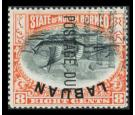 SG D6ba. 1901 8c Black and vermilion. 'Frame Inverted'. Postage