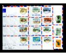 SG52. 1969 Full set of 15 values all used on seperate covers...