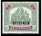SG65s. 1899 $10 Green and purple. Superb mint 'SPECIMEN'...