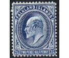 SG46b. 1912 2 1/2d Deep blue. Very fine mint with excellent...