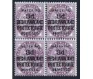 SG12. 1900 3d on 1d Lilac.  A magnificent mint block...