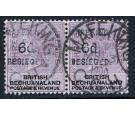 SG10. 1900 6d on 3d Lilac and black. Superb fine used horizontal