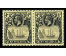 SG92b. 1923 4d Grey and black/yellow. 'Torn Flag'. Brilliant U/M