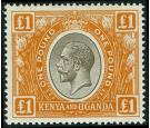 SG95. 1922 £1 Black and orange. Superb fresh U/M mint...