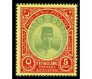 SG44. 1938 $5 Green and red/yellow. Brilliant fresh U/M mint...