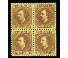 "SG2a. 1871 3c Brown/yellow. Stop after 'THREE"". Superb fresh wel"