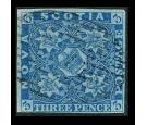SG4. 1857 3d Pale blue. Superb fine used...
